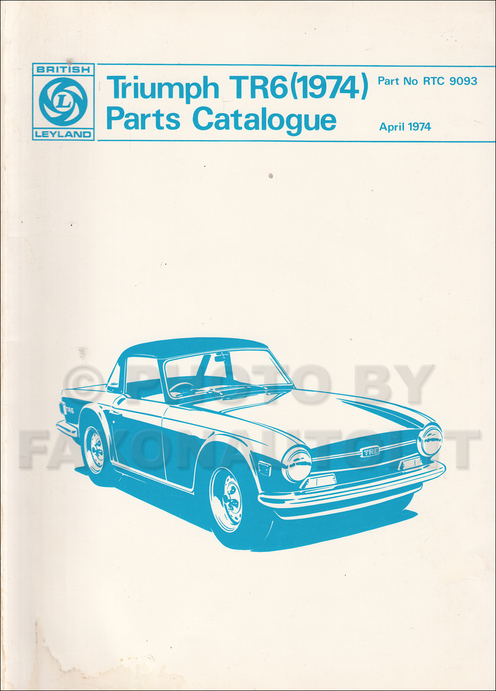 1974 1976 Triumph Tr6 Owners Manual Reprint Wiring Diagram Related Products