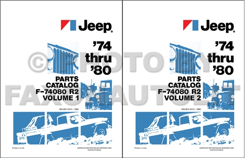 1974-1980 Jeep Illustrated Parts Book Reprint Set