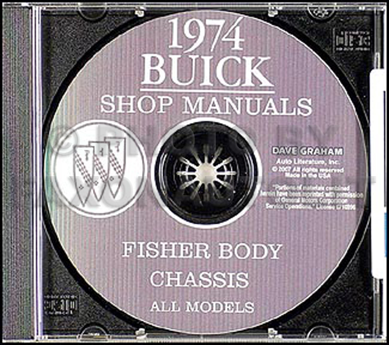 1974 Buick Shop Manual & Body Manual on CD-ROM  - All Models