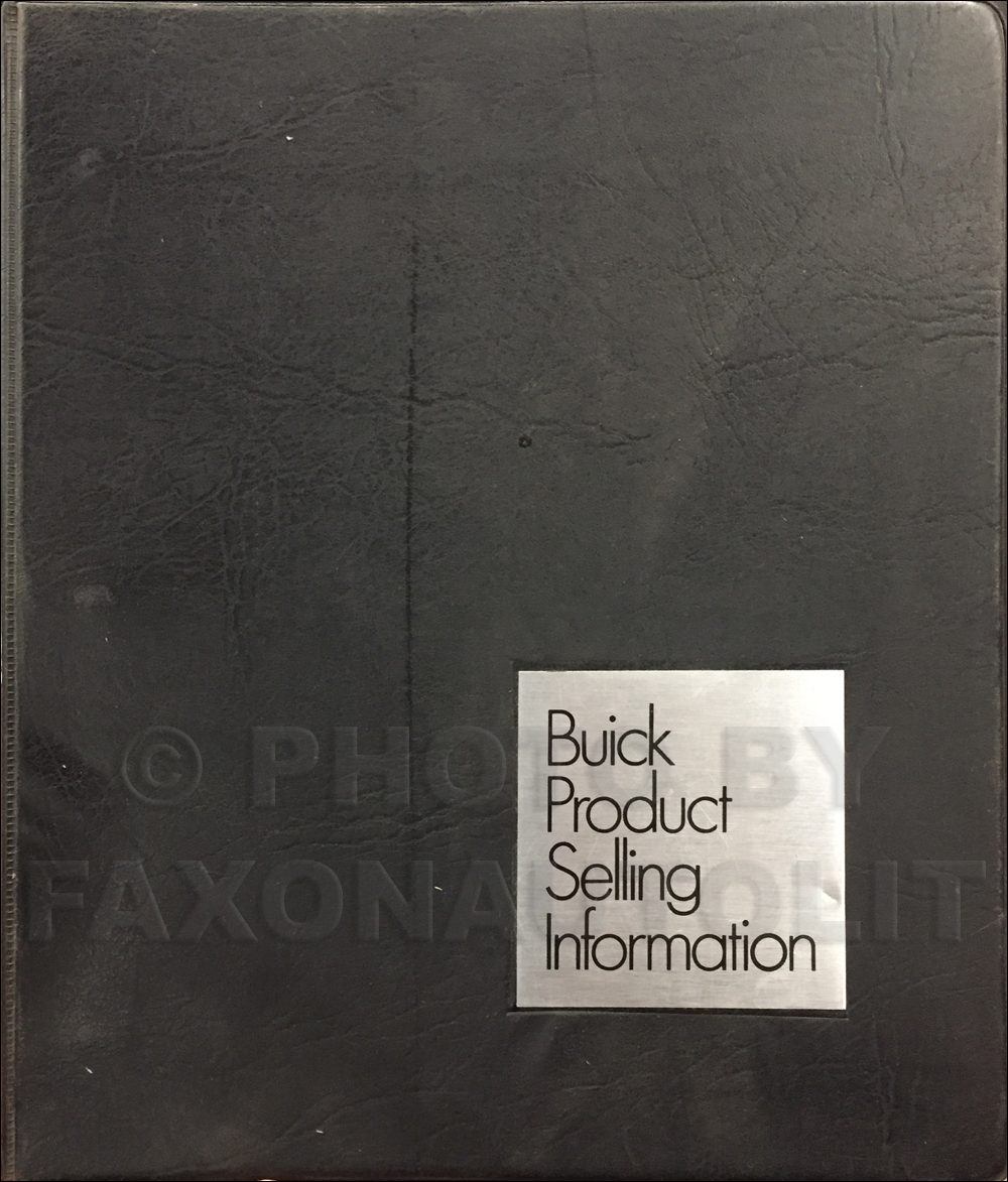 1974 Buick Data Book Original