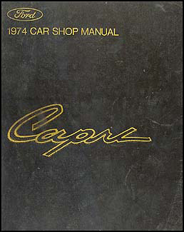 1974 Mercury Capri Repair Manual Original