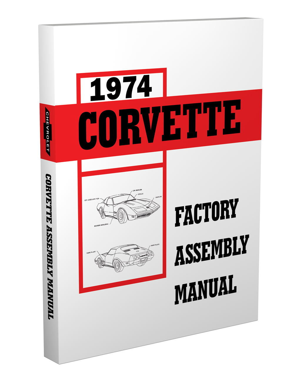 1974 Corvette Wiring Diagram Manual Reprint