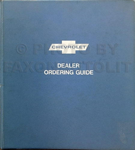 1974 Chevrolet Dealer Ordering Guide Original