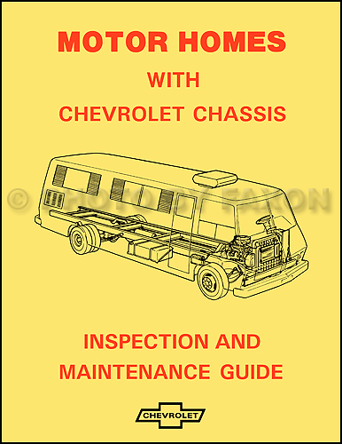 1974 Chevrolet Motor Home Chassis Owner's Manual Reprint