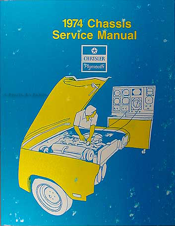 1974 Plymouth and Chrysler Service Manual Original Set