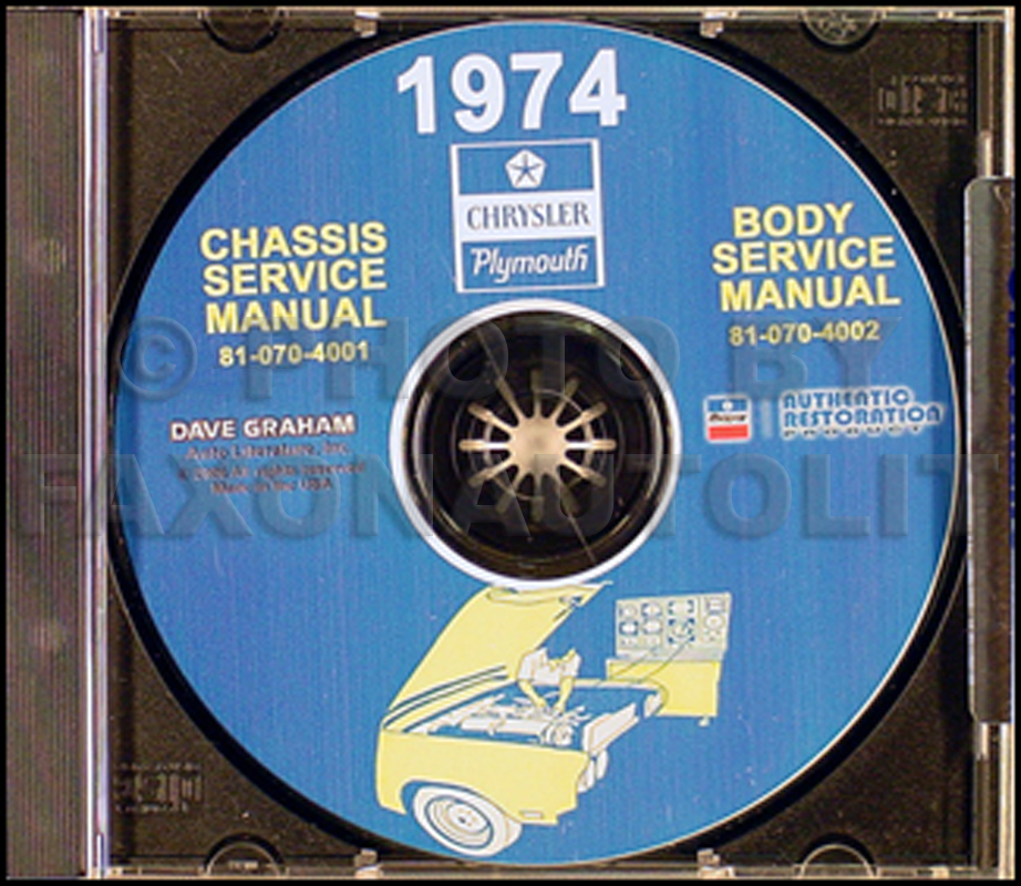 1974 Plymouth & Chrysler CD Shop Manual All Models