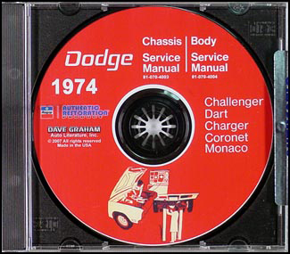 1974 Dodge Car CD-ROM Shop Manual