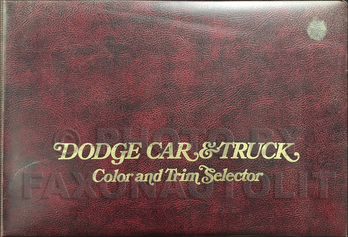 1974 Dodge Color & Upholstery Album Original