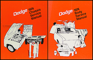 1974 Dodge Car Shop Manual Original 2 Volume Set