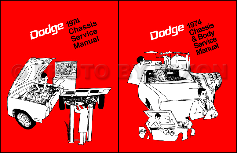 1974 Dodge Car Repair Shop Manual Reprint 2 Volume Set