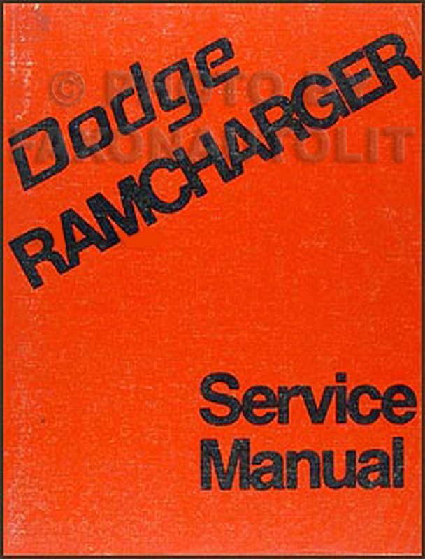 1974 Dodge Ramcharger Repair Manual Original