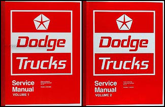 1974 Dodge Pickup Truck Shop Manual Reprint 100-800