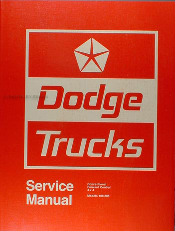 1974 Dodge Pickup Truck Shop Manual Original 100-800