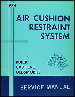 1974 Fisher Body Airbag Repair Manual Original