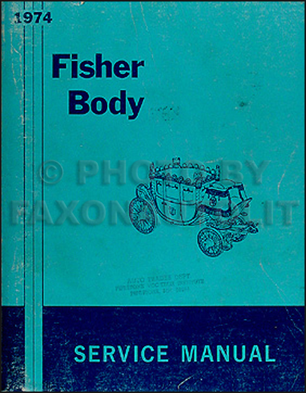 1974 Pontiac Body Repair Shop Manual Original