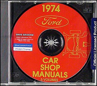 1974 Ford, Lincoln, and Mercury CD-ROM Shop Manual for all cars 74