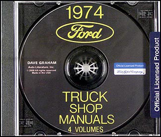 1974 Ford Truck Repair Shop Manual CD ROM for Pickup, Bronco, Van, big trucks