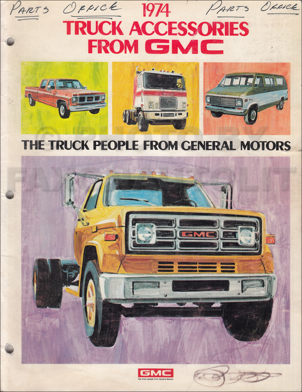 1974 GMC Accessories Dealer Album Original