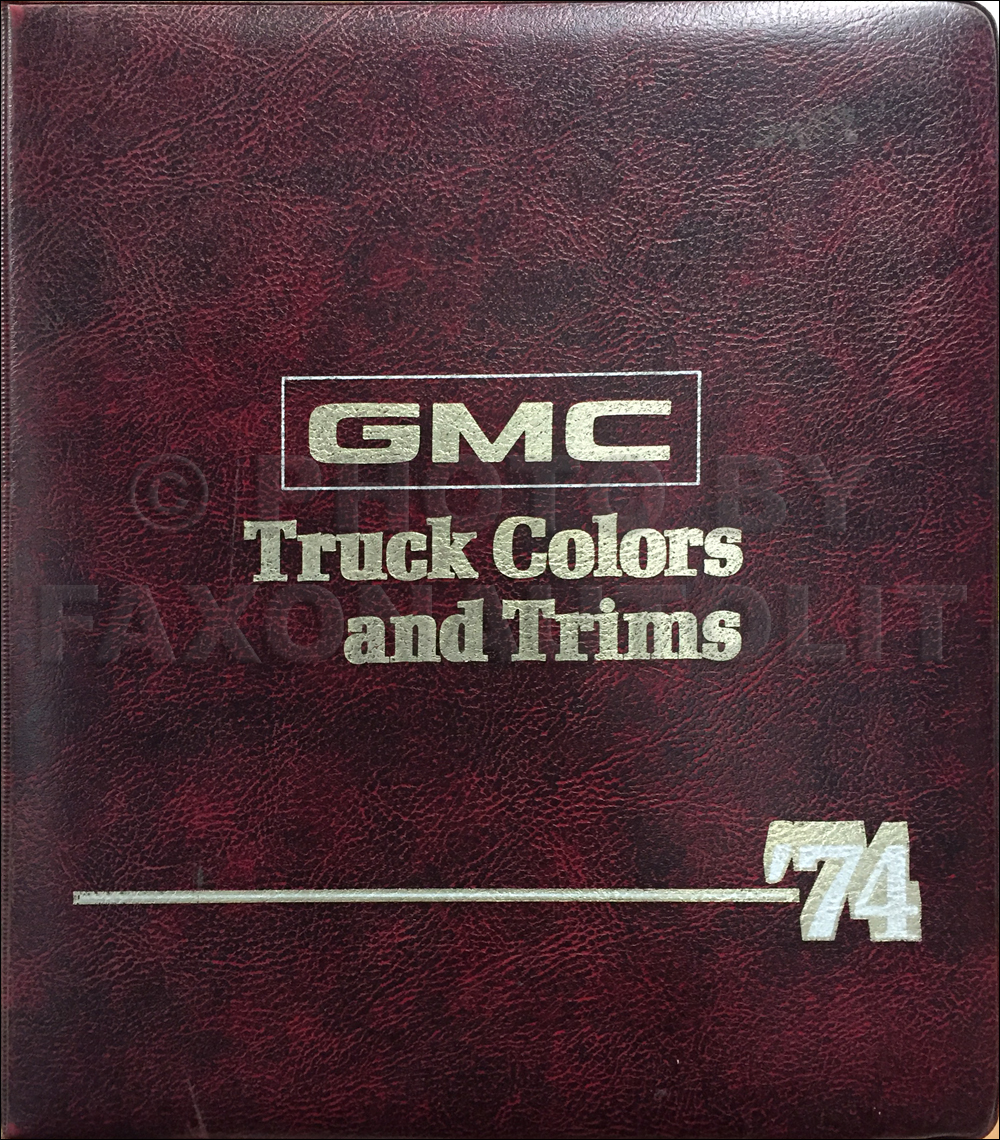 1974 GMC Color & Upholstery Dealer Album Original