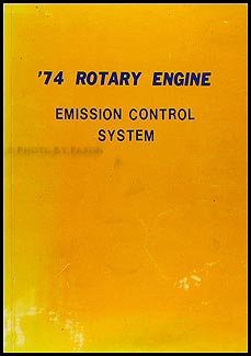 1974 Mazda Rotary Engine Emission Control System Manual Original