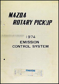 1974 Mazda Rotary Pickup Emission Control System Manual Original