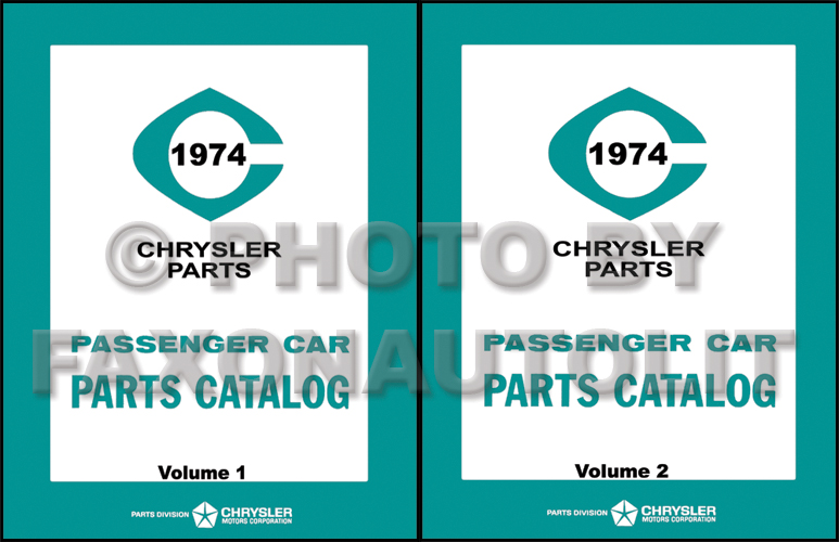 1974 MoPar Parts Book Reprint 2 Volume Set