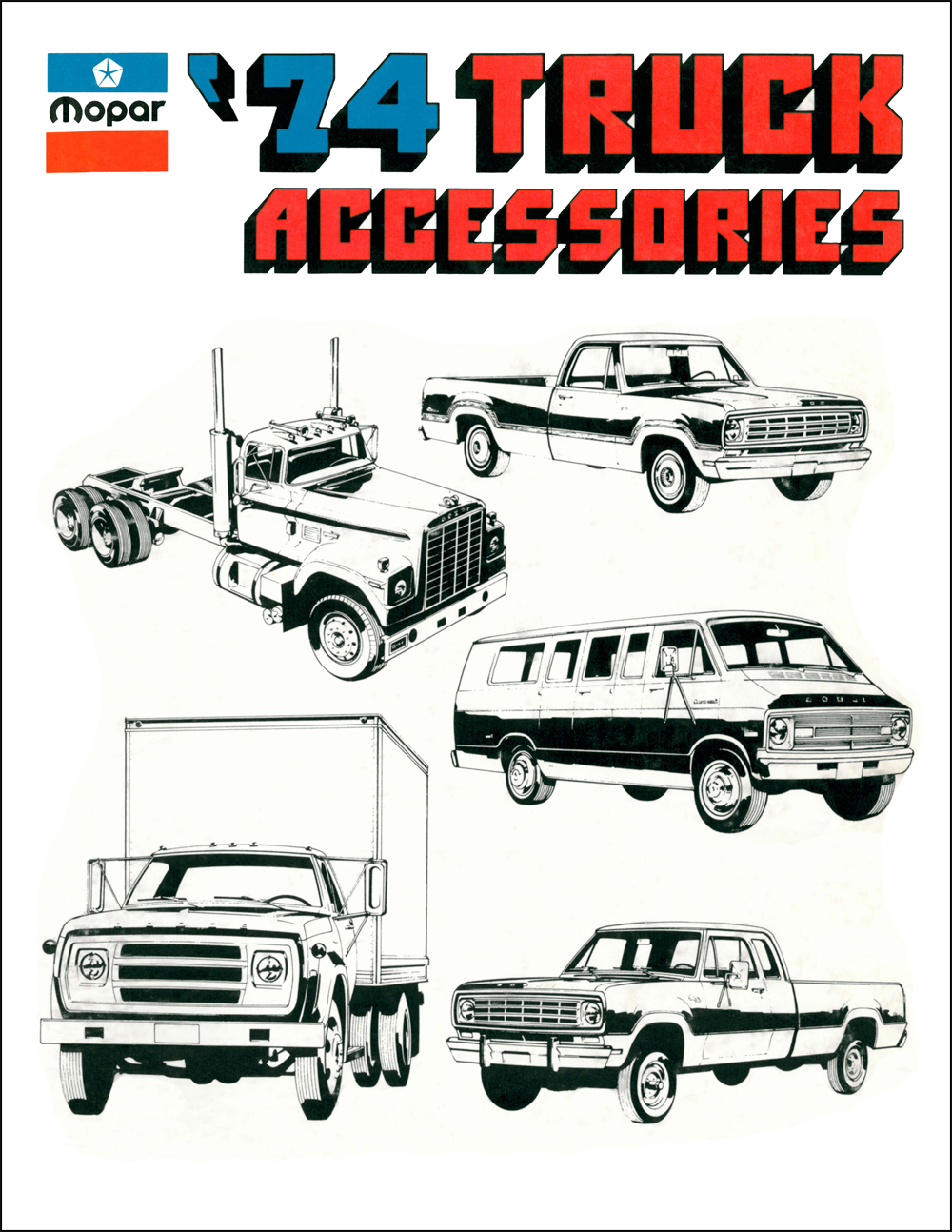 1974 Dodge Truck Accessories Parts Book Reprint