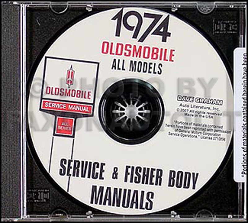 1974 Oldsmobile CD-ROM Body & Shop Manual