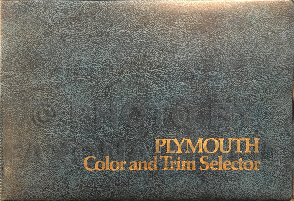 1974 Plymouth Color & Upholstery Album Original