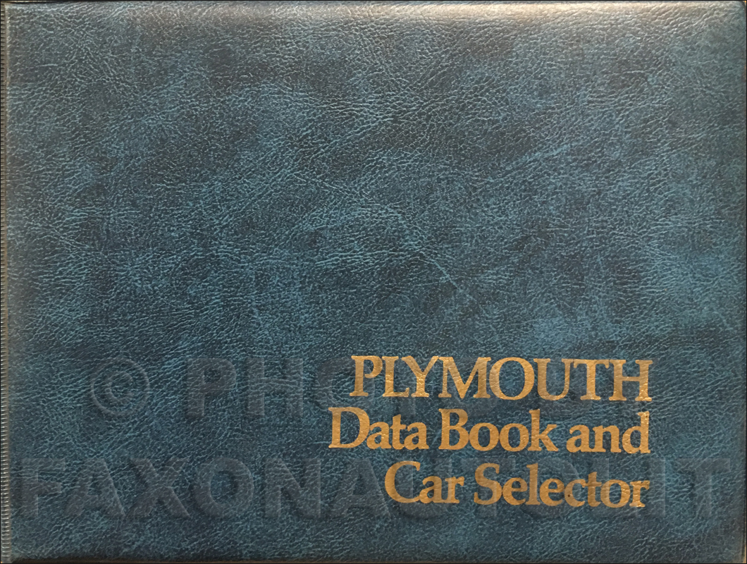 1974 Plymouth Data Book Original