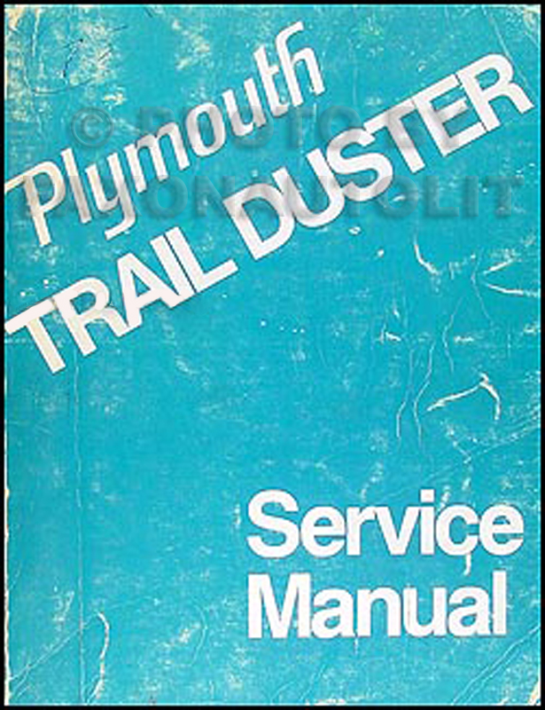 1974 Plymouth Trail Duster Repair Manual Original