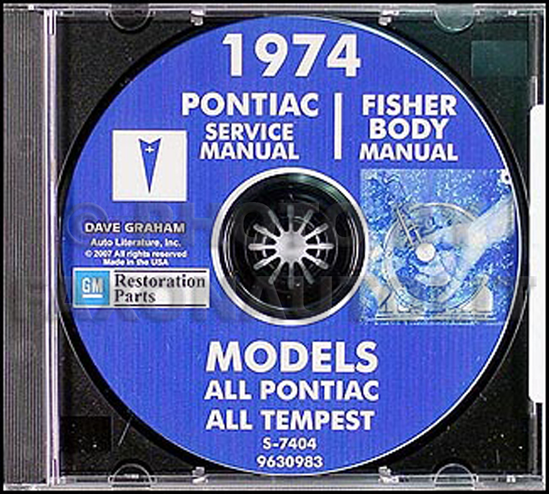 1974 Pontiac CD-ROM Shop Manual & Body Manual