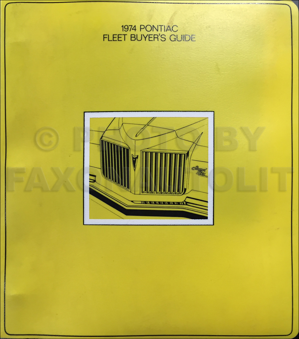 1974 Pontiac Fleet Buyer's Guide Dealer Album Original