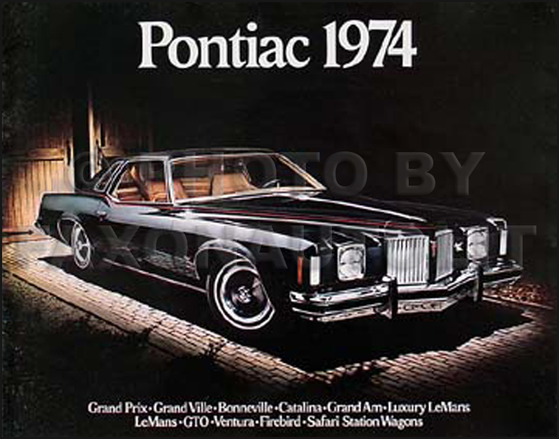 1974 Pontiac Original Sales Brochure