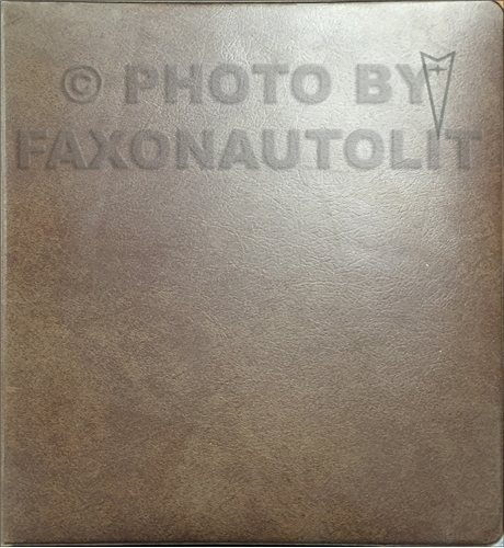 1974 Pontiac Sales Manual Data Book Dealer Album Original