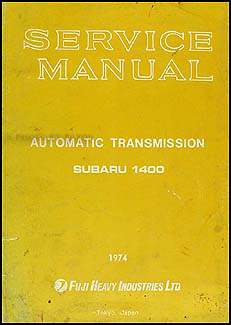 1974 Subaru Automatic Transmission Manual Original