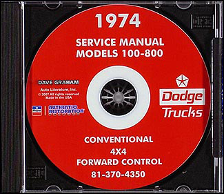 1974 Dodge Pickup & Truck CD-ROM Shop Manual