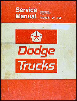 1975-1976 Dodge 100-800 Truck Repair Manual Original