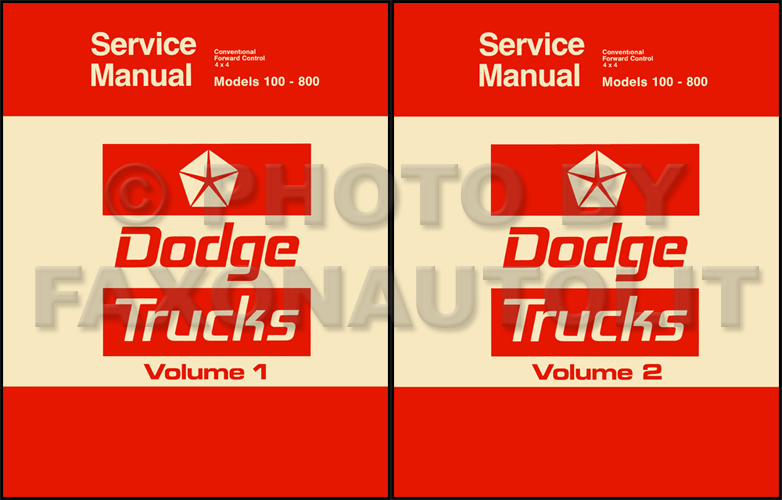 1975-1976 Dodge Truck Repair Manual Reprint