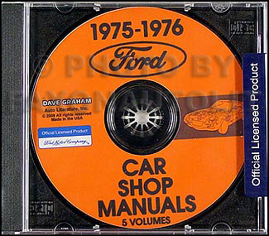 1975-1976 Ford Lincoln and Mercury CD-ROM Shop Manual for all cars