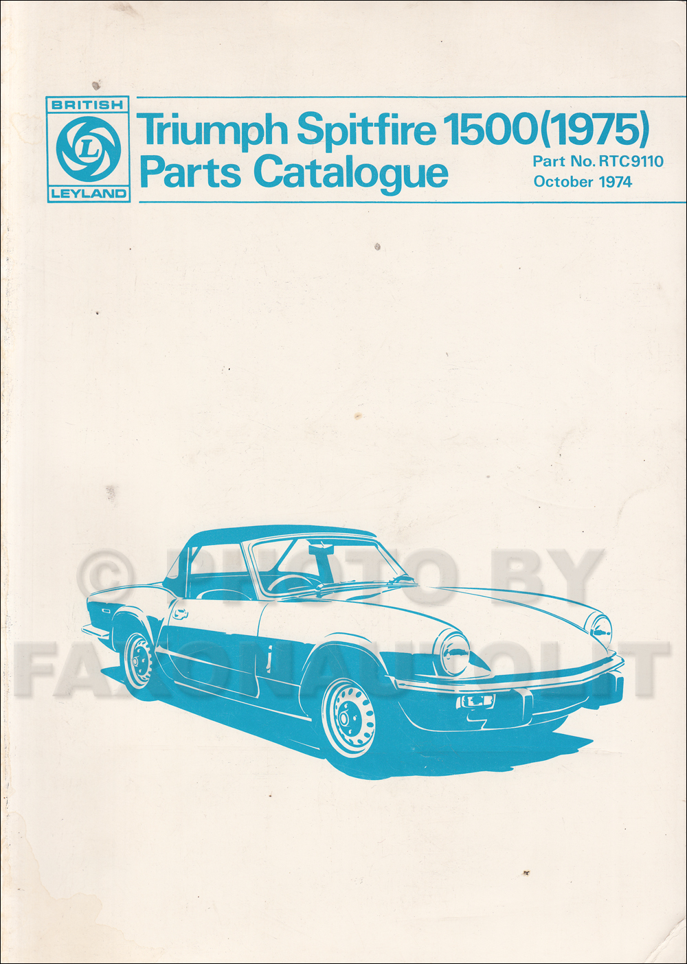 1975-1976 Triumph Spitfire 1500 Parts Book Original