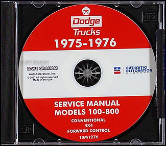 1975-1976 Dodge Pickup & Truck CD-ROM Shop Manual