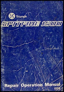 1975-1978 Triumph Spitfire 1500 Repair Manual Original