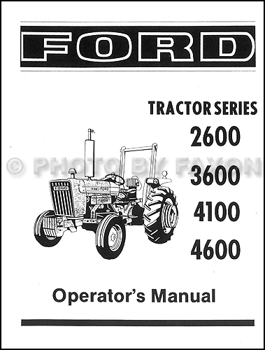 1975-1981 Ford Tractor Owners Manual Reprint 2600 3600 4100 4600