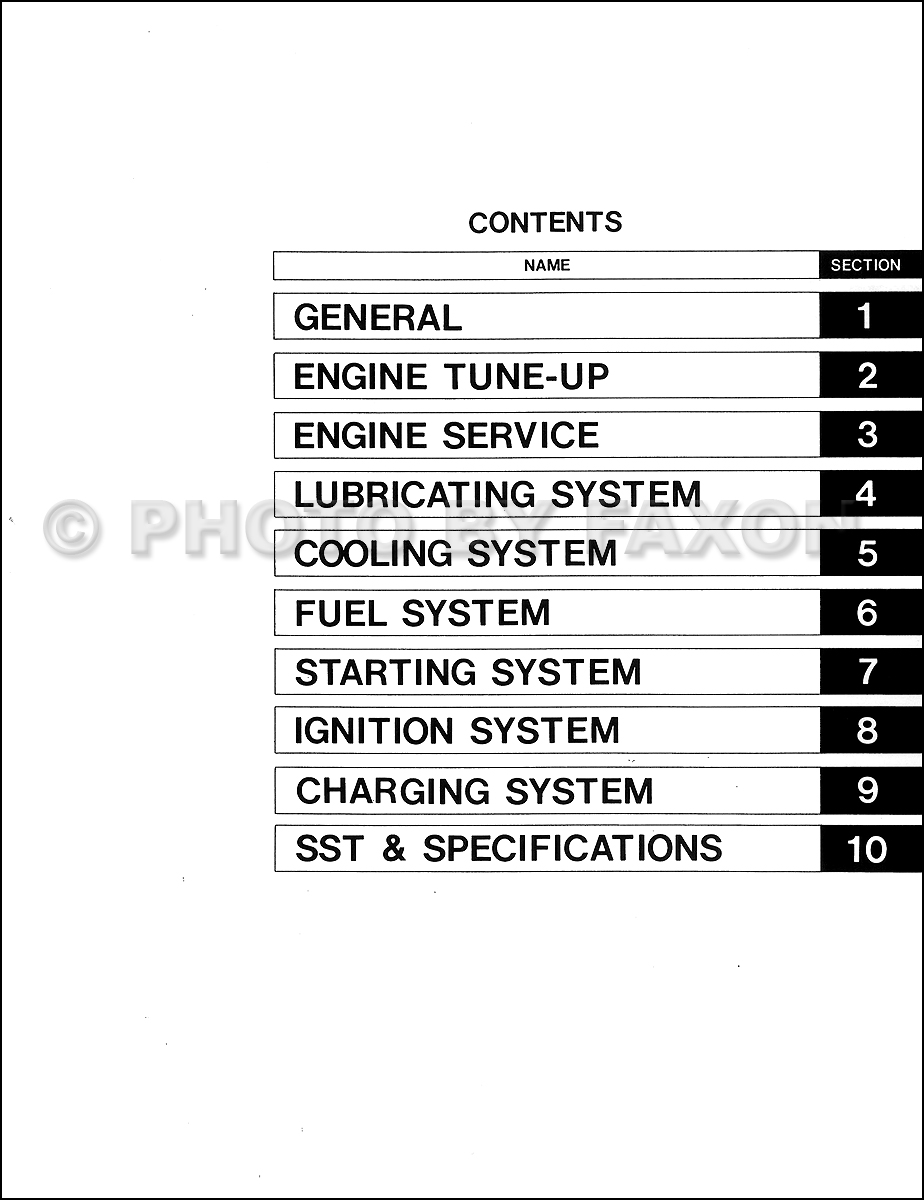 1975 1981 Toyota Land Cruiser 2f Engine Repair Shop Manual Factory 1973 Owners Reprint Table Of Contents