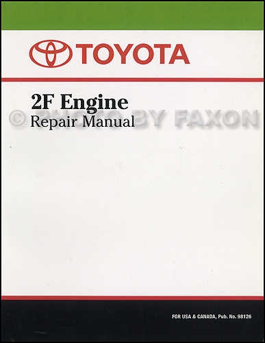 1975-1981 toyota land cruiser 2f engine repair shop manual factory reprint  $109 00