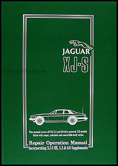 1975-1988.5 Jaguar XJ-S 12 Cylinder Repair Manual Reprint