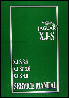 1983-1996 Jaguar XJ-S 6 Cylinder Repair Manual Reprint