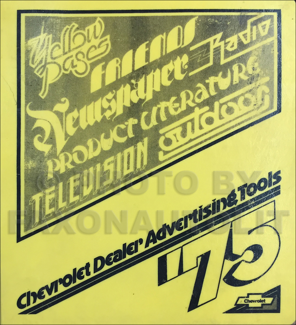 1975 Chevrolet Dealer Advertising Planner Original