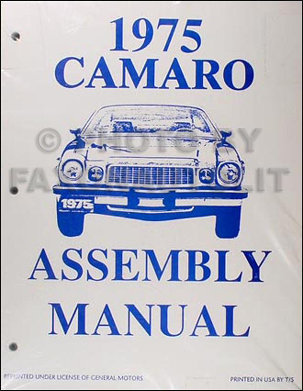 1975 Camaro Factory Assembly Manual Reprint
